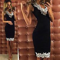 Женское модное платье с кружевом ММ209