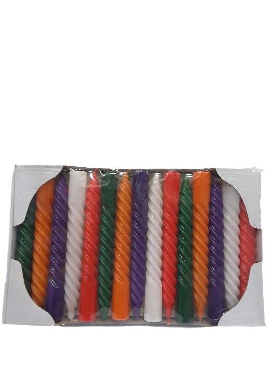 Свечи декоративные витые крученые разноцветные