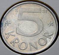 Монета Швеции. 5 крон 2009 год