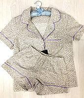 Женская домашняя одежда,пижама рубашка с шортами