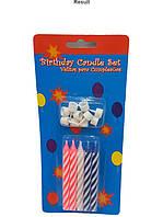 Свечи праздничные для торта с подставками