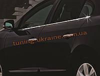 Нижние молдинги стекол Omsa на Renault Fluence 2009-2012