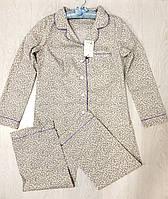 Пижама рубашка и штаны с мелким рисунком