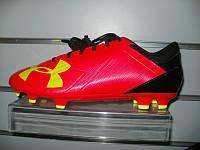 Футбольные бутсы Under Armour Spotlight DL FG (red/high-vis yellow/black)