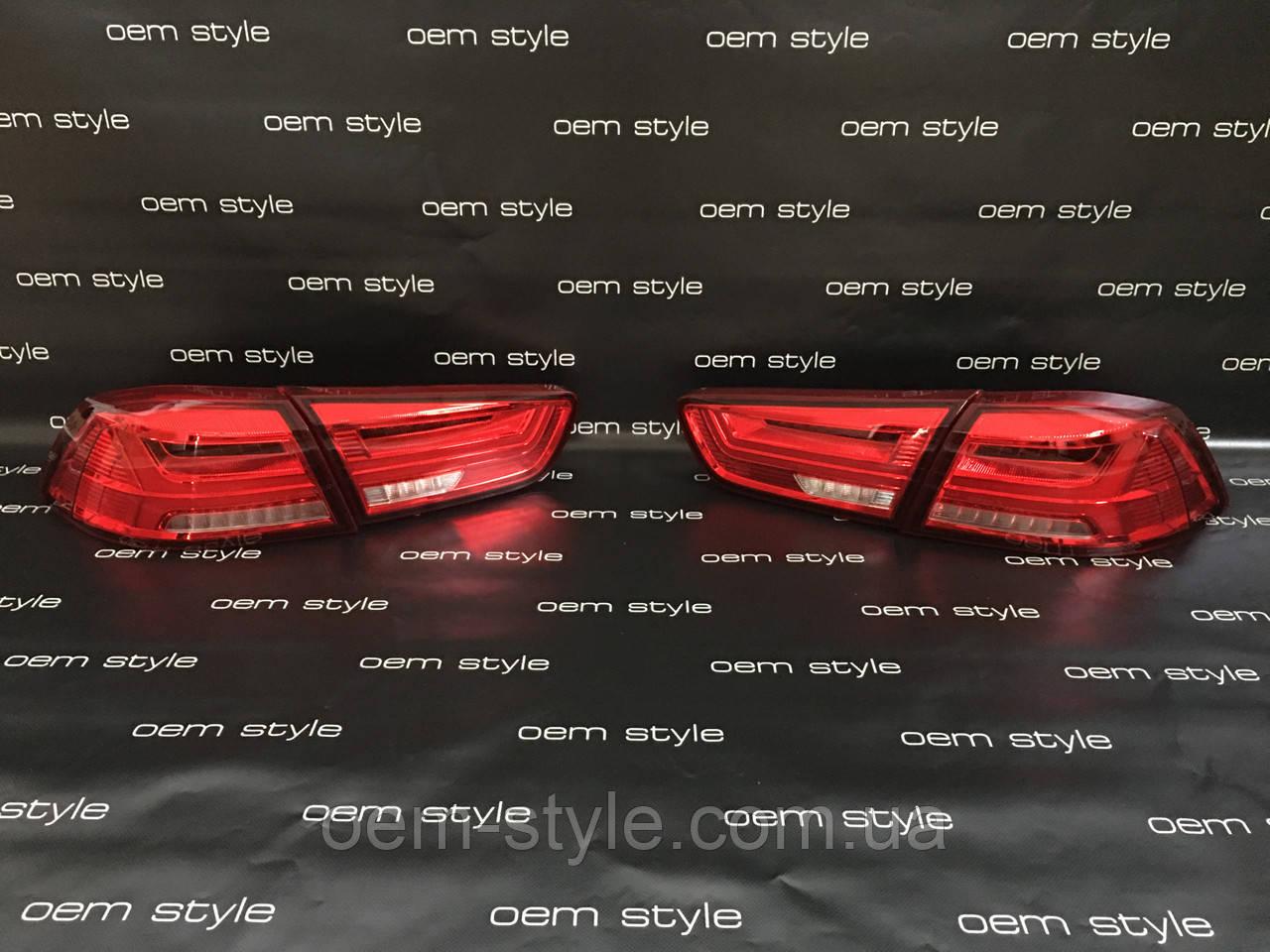 Задние Led фонари Mitsubishi Lancer (Audi style)