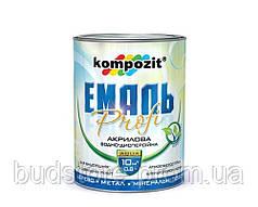Эмаль акриловая PROFI серая глянцевая Kompozit 0,3 л