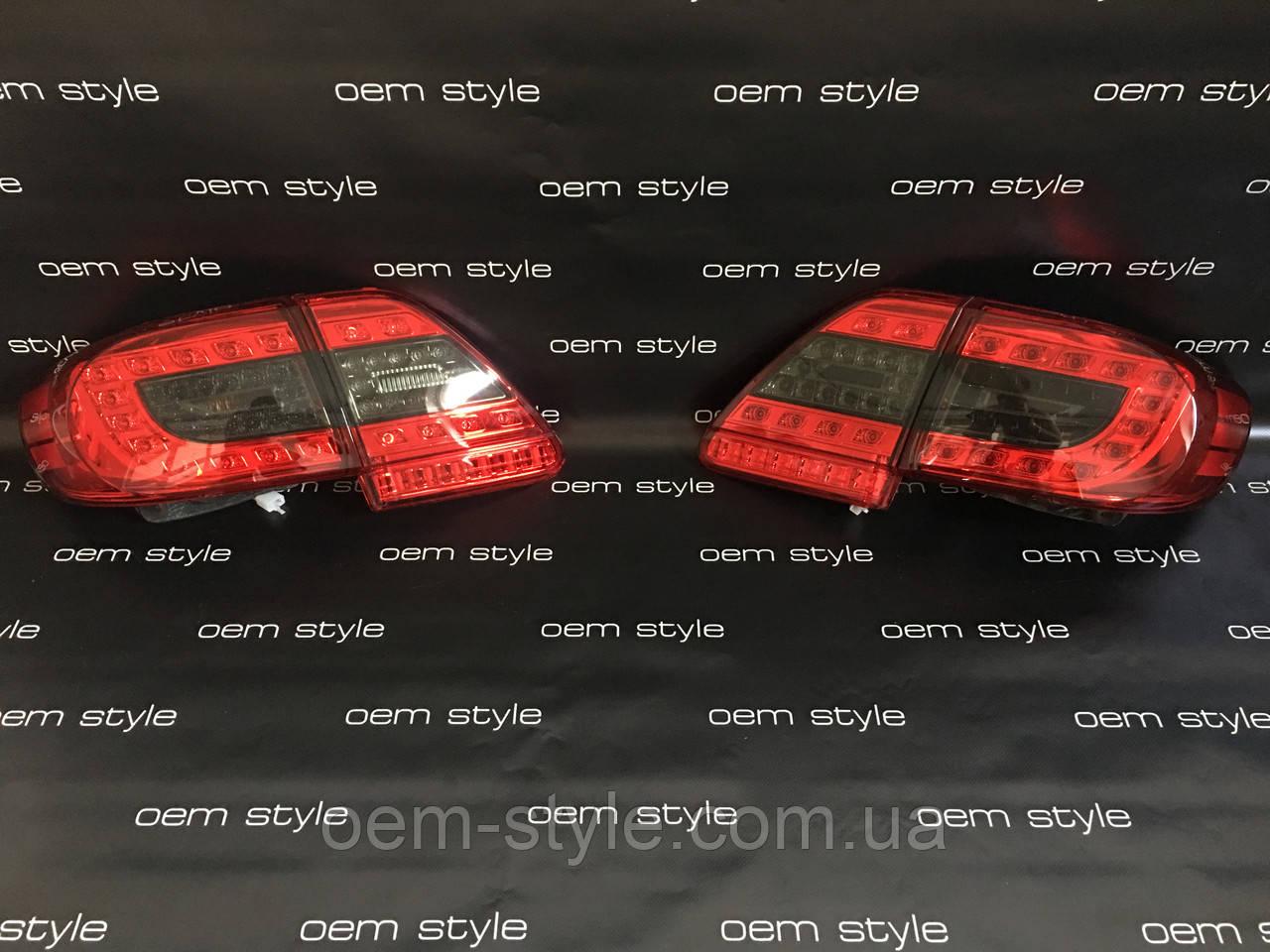 Задние Led фонари Toyota Corolla 2010-2012