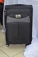 Средний чёрный чемодан Chariot
