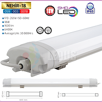 Светодиодный пыле-влагозащищенный LED светильник IP65 18W 600 мм 6400K (NEHIR-18)