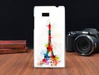 Силиконовый бампер чехол с рисунком для HTC Desire 600