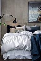 Постельное белье из льна, Белое, двуспальный