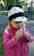 Хлопковая кепочка для девочки с ушками