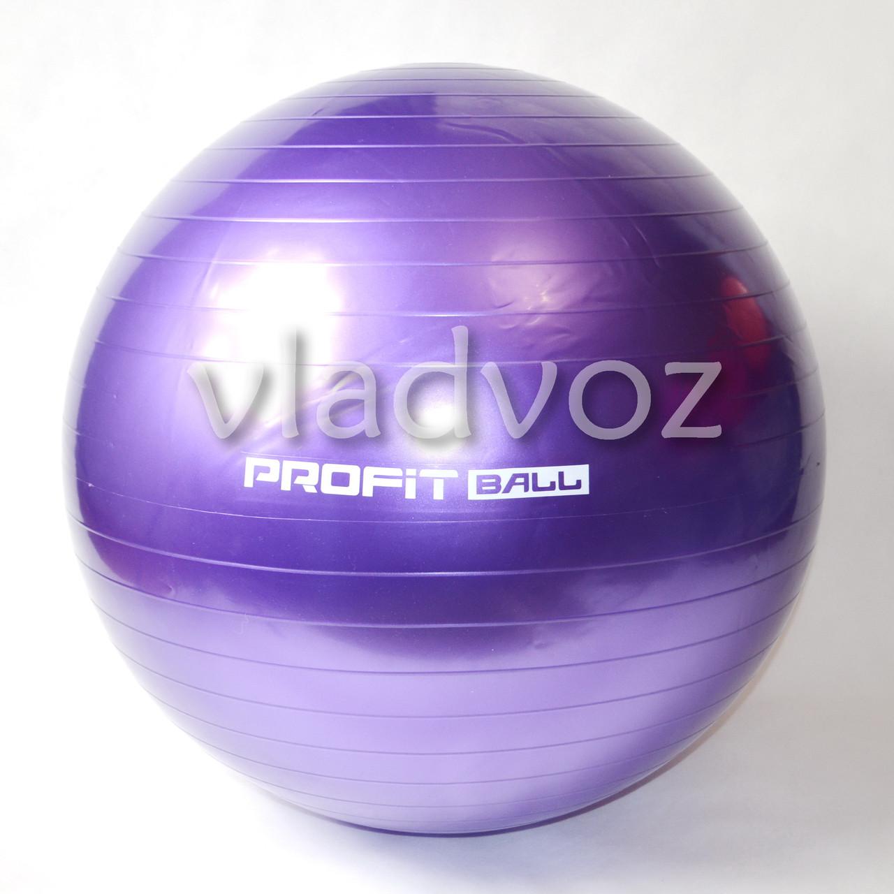 Мяч для фитнеса шар фитбол гимнастический для гимнастики беременных грудничков 65 см 900 г фиол.