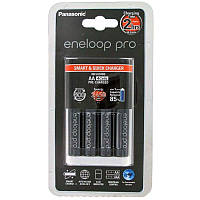 Зарядное устройство - Panasonic Eneloop на 4 аккумулятора + 4 аккум. HR6 2500 mAh