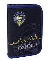 """Пенал твердый одинарный с двумя клапанами """"Oxford"""" 20.5*14*3.5, 531384"""
