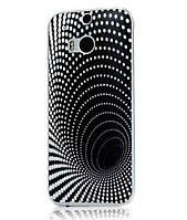 Силиконовый бампер чехол с рисунком для HTC One M8