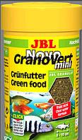 JBL Novo Grano Vert mini RF 100ml./35g.  корм в виде гранул для небольших аквар. рыб