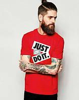 Мужская футболка Nike Just do it (красная)