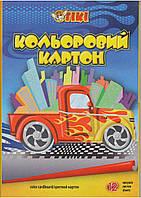 Картон А4 цветной TIKI-50901 12л