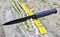 Нож нескладной Штык, с резиновой рукояткой и тканевым чехлом