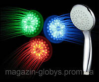 Насадка на душ с  подсветкой для воды 3 цвета, улучшенная турбина