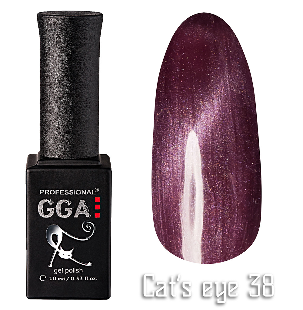 Гель лак GGA Professional Cat's Eye 38