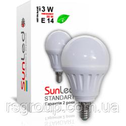 """Светодиодная лампа """"SUNLED"""" Standart """"SUNGI"""" 3Вт E14т"""