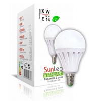 """Светодиодная лампа """"SUNLED"""" Standart """"SUNGI"""" 6Вт E14"""