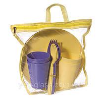 """Набор для пикника 20 предметов из пищевого пластика """"MM-759""""."""