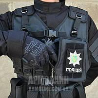 Тактический разгрузочный жилет (ПОЛIЦIЯ) BLACK, фото 5