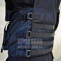Тактический разгрузочный жилет (ПОЛIЦIЯ) BLACK, фото 7