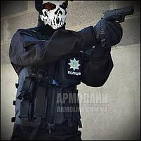 Тактический разгрузочный жилет (ПОЛIЦIЯ) BLACK, фото 9