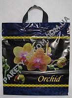 """Пакет с петлевой ручкой тип """"Диор"""" """"Орхидея"""" (37х41(+3)) 25 шт"""