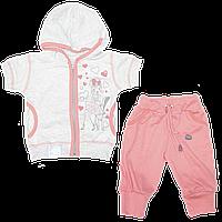 Костюмчик: футболка а с капюшоном и бриджи; тонкий трикотаж, ТМ Финтекс, р. 92, 98, 104, 110