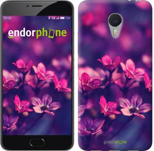 Чехол на Meizu M3 Note Пурпурные цветы
