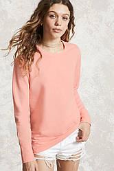 Свитшот розовый женский свитер реглан Forever 21