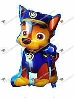 """Фольгированный шарик фигура персонажа """" Щенячий патруль"""" - Чейз.90 см."""