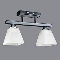 Люстра на две лампочки CR (хром)  P3-26405/2C  (BK+CR+WT)