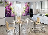 """ФотоШторы для кухни """"Пестрые орхидеи"""""""