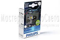 Лампа светодиодная Philips Festoon Vision LED T10.5x38, 4000K, 1 шт / блистер 128584000KX1