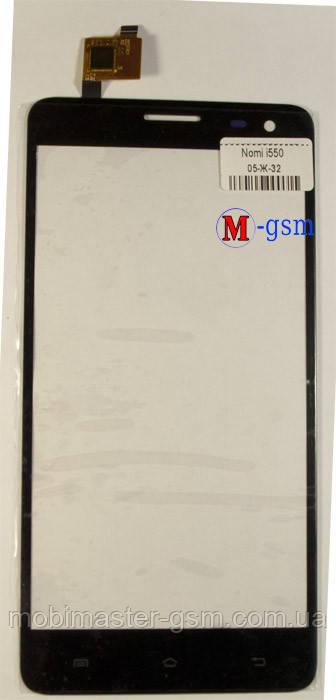 Сенсор (тачскрин) для телефона Nomi i550 черный