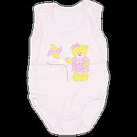Детский боди-майка с аппликацией, тонкий хлопок (кулир-пинье), ТМ Виктория, р. 74 Украина