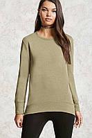 Свитшот оливковый женский свитер реглан Forever 21