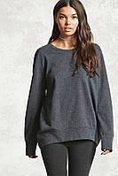 Свитшот серый женский свитер реглан Forever 21