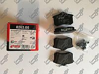 Колодки тормозные дисковые ЗАДН AUDI A1-A8, CITROEN C3-C4, SKODA , VW GOLF IV 00-, PASSAT кат№ RS 0263.05 пр-во: REMSA