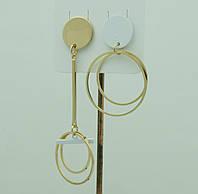 Бижутерия асимметрия- серьги. Белые асимметричные серьги для молодёжи 3030