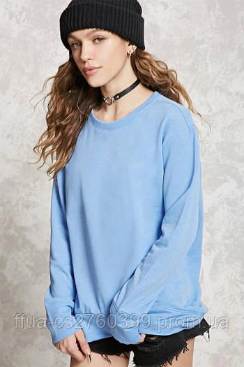 Свитшот голубой женский свитер реглан Forever 21