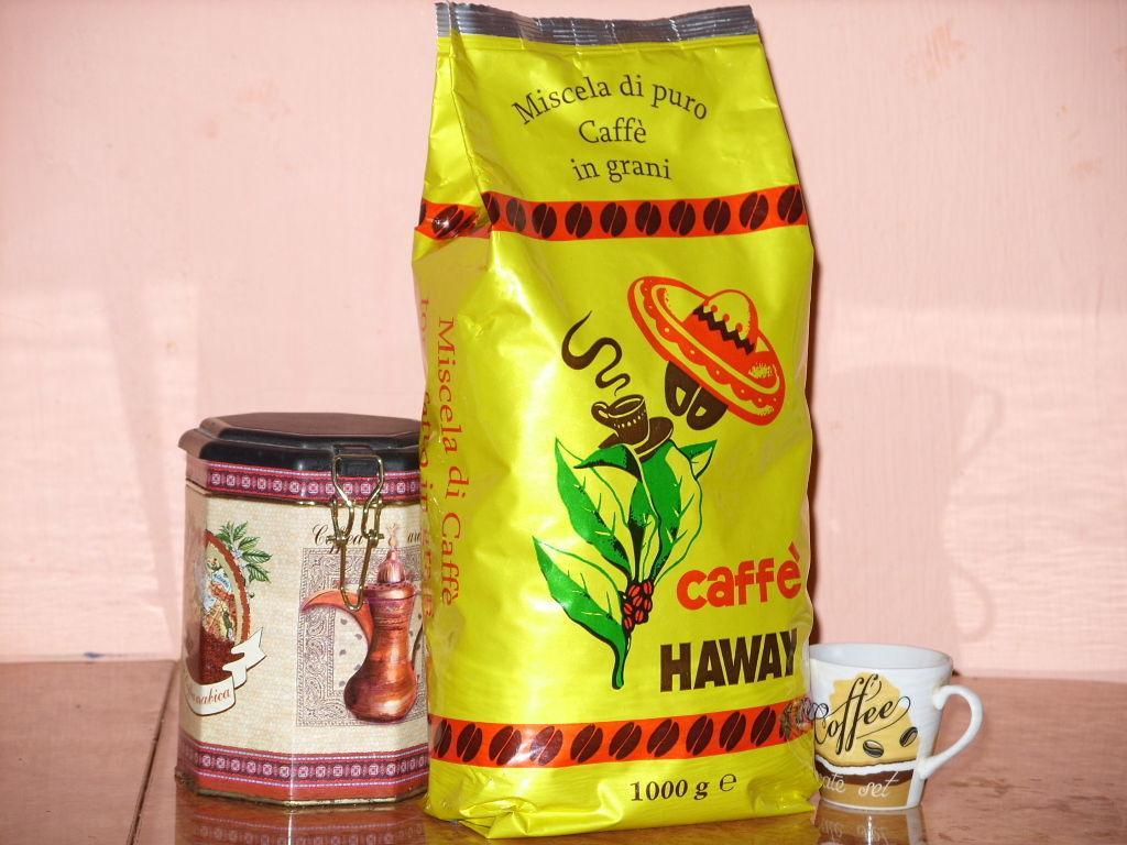 Кофе в зернах Caffe Haway 1кг Италия