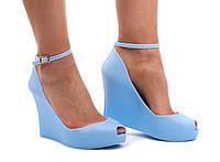 Стильные женские туфли PT67 BLUE