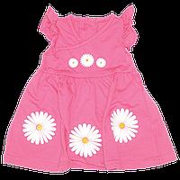 Платье с коротким рукавом, хлопок (кулир), ТМ Ромашка, р. 68, 74, 86, 92